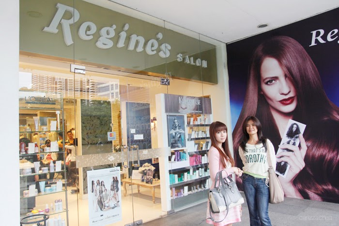 Loreal hair color makeover at regine 39 s salon carizza chua for Absolutely you salon